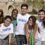 Volunteers posing for picture